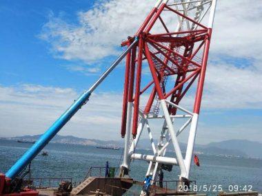 piling barge cylinder
